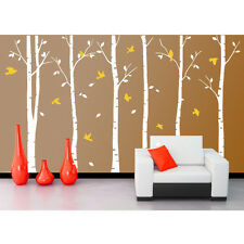 Forest Tree Birds Home Art Vinyl Living Room Huge Wall Decor Decal Sticker Wh04