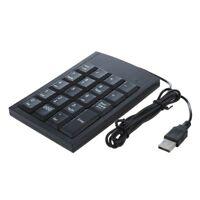 SODIAL (R) Mini USB Numerische Tastatur fuer Laptop PC Computer - Schwarz GY