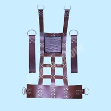 HEAVY DUTY LEATHER SEX SWING / SLING with STIRRUPS BDSM