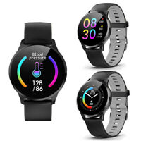 Heart Rate Monitor Water-Resistant Bluetooth Smart Watch For iOS Android Phones
