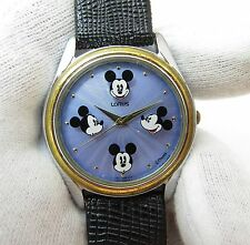 MICKEY MOUSE, Lorus by Seiko #V501-8P70 3D Dial Mikey Heads, Mens/Teen WATCH,742