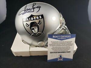 Howie Long Signed Autograph Oakland Raiders Helmet Beckett