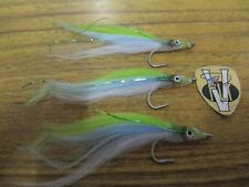 3 V Fly Size 4 Ultimate RV Polarfry Minnow Baitfish Saltwater Flies