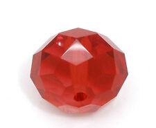 20 CRIMSON RED Crystal Glass Faceted Rondelle Beads 14mm bgl0966