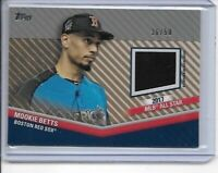2020 Topps Update Mookie Betts All Star Stitches Relic #36/50 Dodgers Red Sox