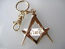 New Masonic Master Mason Cut out  Keychain Gold                      E.M.D