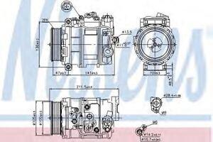 New Compressor air conditioning for DODGE-MERCEDES-BENZ 89090 Nissens