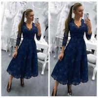 2019 Mother Of The Bride Dresses V Neck Navy Blue Long Sleeves Appliques Sequins