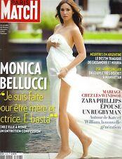 MONICA BELLUCCI FRENCH Paris Match Magazine 8/4/11 BAREFOOT PC