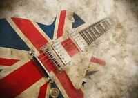 A1| British Rock Guitar Poster Print Size 60 x 90cm Musical Poster Gift #16066