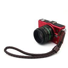 New Pro Universal Leather Camera Hand Wrist Strap for Canon Nikon SLR DSLR #A-03
