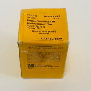 Kodak Vericolor III Professional Film 5026 Type S 70 mm x 15 ft / 4.6m