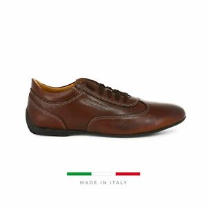 Sparco Imola-GP Brown Shoes Sneakers in Leather