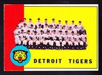 1963 TOPPS #552 DETROIT TIGERS TEAM CAR W/AL KALINE & JIM BUNNING
