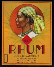 Ancienne Etiquette Chromo - Alcool - Rhum 44° -Ste.Valdigny - Réf.n°381