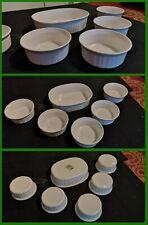 6 pirofile da forno ceramica bianca CORNING WARE CONDIZIONI OTTIME