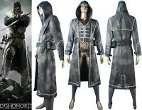 Unisex Dishonored Corvo Attano Outfit Rat Assassin Bodyguard Cosplay Costume