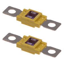 2 x Leistungssicherung Streifensicherung Mega Hochstrom / gelb / 100A / 32V