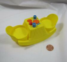 PLAYSKOOL Weebles Weeble Wobble YELLOW ROCKING CHAIR TABLE for 2 FIGURES House