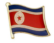 North Korea - Flag Lapel Pins / Badges -  High Quality Gloss Enamel