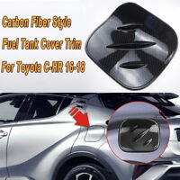 Carbon Fiber Style ABS Gas Cap Fuel Tank Cover For Toyota CHR C-HR