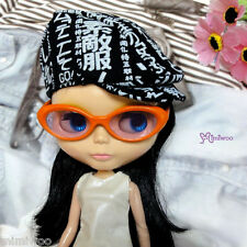 "Mimi Collection Fashion 12"" Neo Blythe Doll Plastic Orange Glasses Purple Lens"