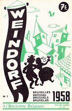 Weindorf Magazine n°1 /1958 Ancienne Belgique