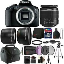 Canon EOS 2000D 24.1MP DSLR Camera + 18-55mm Lens + 16GB Accessory Bundle