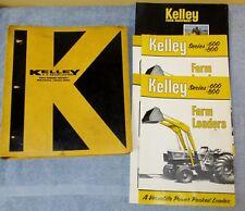 Vtg Kelley Binder Withfarm Dealer Manualbrochurespec Farm Tractorloader J0675