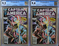 LOT of (2) CAPTAIN AMERICA ANNUAL #8 (1986) CGC 9.2 & 9.4 (NM) - RARE NEWSSTAND
