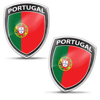 2x 3D Domed Portugal Flag Number Plate Car Laptop Phone Case Helmet Bike Sticker