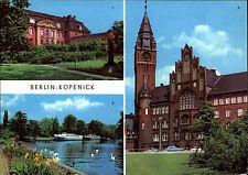 BERLIN Ost DDR Köpenick Hotel-Schiff Kuhle Wampe, Rathaus, Kunst-Museum 1981