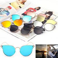 Women's Gold Retro Cat Eye Sunglasses Classic Oversized Fashion Vintage Shades