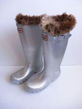 Hunter Original Tall Rain Boots Silver Matte w/ Liner NEW Size 6