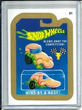 Snot Wheels 2015 Topps Wacky Packages Gold Border Sticker (#81)