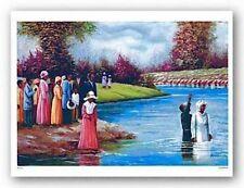 AFRICAN AMERICAN ART PRINT The Baptism Hulis Mavruk