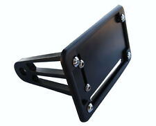 07-08 GSXR 1000 tag bracket peg mount plate relocater w/ Blk Powder Coated Cover