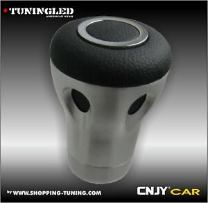 POMMEAU ENZO CHROME CUIR LUXE TUNING COMPATIBLE CERTAINES NISSAN NAVARA NOTE