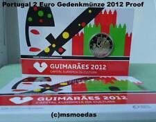 Portugal 2 Euro Gedenkmünze 2012 Guimaraes Euromünze Coincard Blister Proof PP