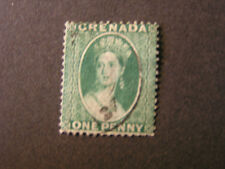 GRENADA, SCOTT # 5bc, 1p. VALUE BLUE GREEN CLEAN CUT PERF. QV 1878 ISSUE USED