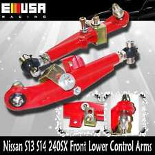 For Nissan 240SX 89-94 S13 1995-1998 S14 Front Adjustable Lower Control Arm RED