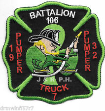 "Kansas City  Pumper-19 / Pumper-32 / T-7 / B-106, MO  (4"" x 4"" size) fire patch"
