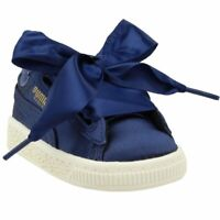 Puma Basket Heart Infant Sneakers Casual    - Navy - Girls