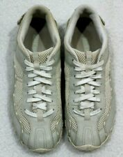 Diesel Apollo Ivory/Gray Athletic Leather/Mesh Walking Shoes Womens Sz 10
