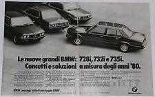 Advert Pubblicità Auto 1979 BMW 728i 732i 735i SERIE 7 E23