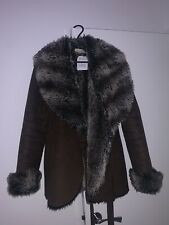 Brown Suede faux fur Jacket, Amazing Condition - Never Worn