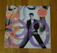 David Bowie Fame 90 Queen Latifah Rare 2-Sided Record Promo Album Flat Poster