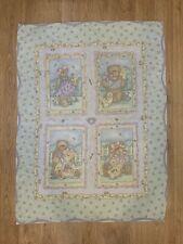 Vintage Baby Crib Blanket Retro Quilted Teddy Bear Quilt 30� x 40�