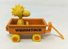 VTG 1970s Aviva Peanuts Snoopy Woodstock Orange Mini Diecast Wagon Toy #2055