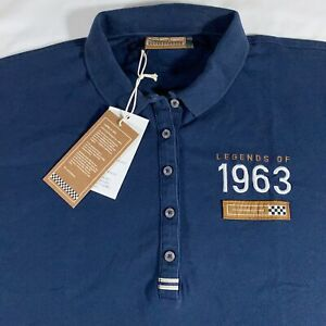 """NWT Porsche Driver's Selection """"Legends of 1963"""" Embroidered Women Polo Shirt XL"""